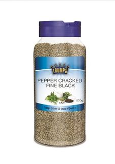 FINE CRACKED BLACK PEPPER CANISTER TRUMPS x 500g (6)