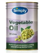 PURE VEGETABLE OIL SIMPLY GFREE x 20lt