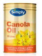 CANOLA OIL PURE SIMPLY x 20lt