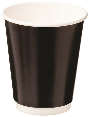 8oz BLACK DOUBLE WALL ECO CUP CAWAY 280ml x25 (20)