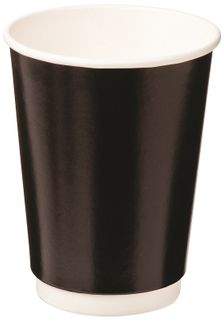 12oz BLACK DBL WALL ECO CUP CAWAY 355ml x25 (20)