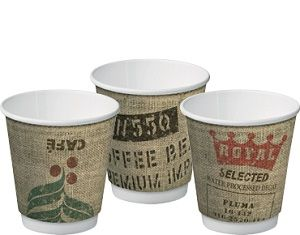 8oz JUTE DOUBLE WALL ECO CUP 280ml x 25 (20)