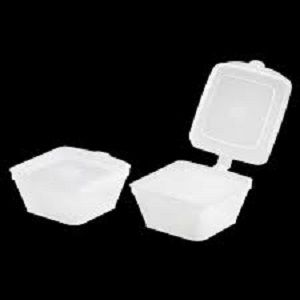 35ml POLY SQUARE CONTAINER HINGED LID x 50 (20)