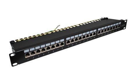 """CERTECH 24 Port 19"""" Cat6 Shielded Patch Panel"""