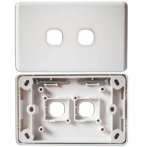 CERTECH Dual Port Wall Plate