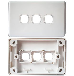 CERTECH Triple Port Wall Plate