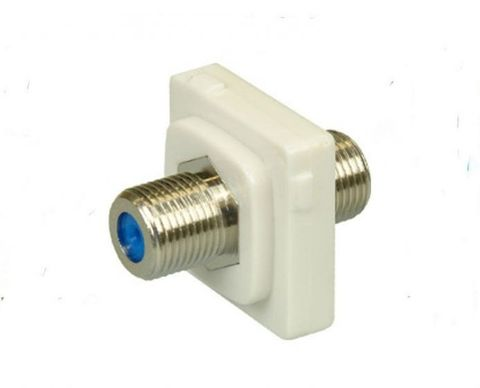 CERTECH F-F Connector for Australian Style Wall Plates