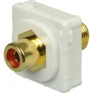 CERTECH RCA-F Connector for Australian Style Wall Plates, Red