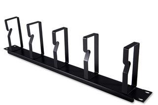"""CERTECH 19"""" 1RU Metal Cable Management Bar, 105mm Deep"""