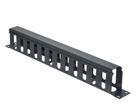 """CERTECH 19"""" 1RU Metal Cable Management Bar with Protective Cover"""