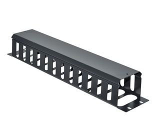 """CERTECH 19"""" 2RU Metal Cable Management Bar with Protective Cover"""