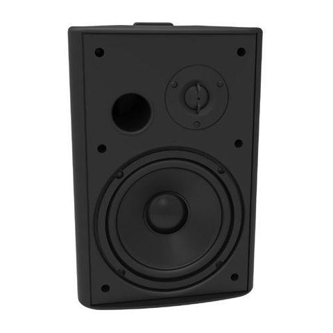 """LUMI AUDIO 6.5"""" Bass Reflex On-Wall Speaker, Black"""