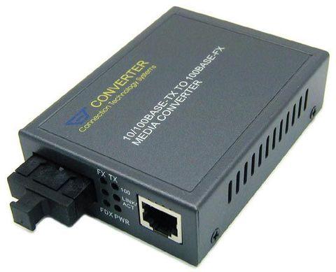 CTS Fast Ethernet Media Converter 10/100Base-TX RJ45 to 100Base-FX SC Single-Mode Fibre 30km
