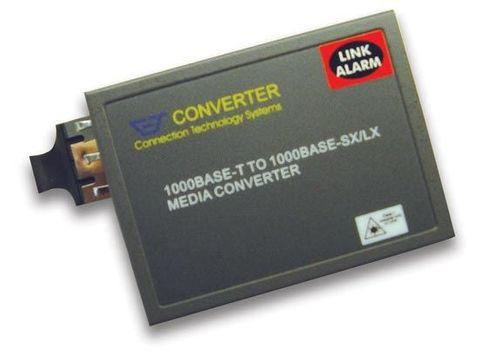 CTS Gigabit Media Converter 10/100/1000Base-TX RJ45 to 1000Base-LX Single-Mode Fibre 10km