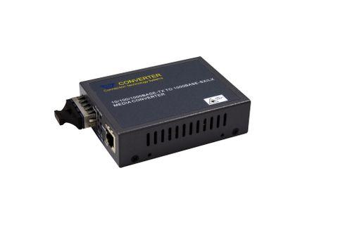 CTS Gigabit Managed Media Converter 10/100/1000Base-TX RJ45 to 1000Base-LX Single-Mode SC Fibre 10km