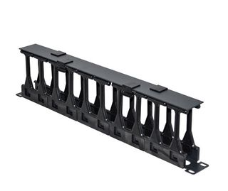 "CERTECH 19"" 1RU High Density Cable Management Bar with Protective Cover"
