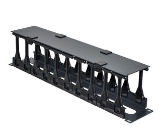 "CERTECH 19"" 2RU High Density Cable Management Bar with Protective Cover"