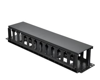 """CERTECH 19"""" 2RU Plastic Cable Management Bar with Protective Cover"""