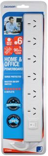 Jackson 6 Outlet Surge & Overload Protected Powerboard