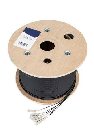 CERTECH 6 Core OM3 Loose-Tube Drycore Fibre, Pre-Terminated to SC, 150m