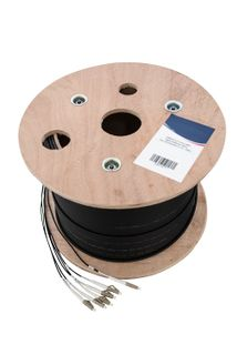 CERTECH 6 Core OM3 Tight-Buffered Fibre, Pre-Terminated to LC, 200m
