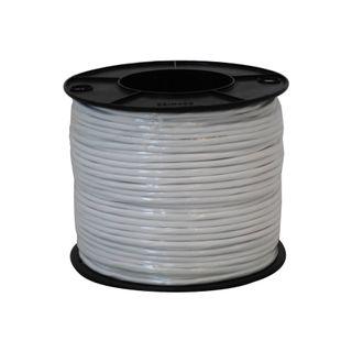 4 Core, 14/020 Unshielded, 100m Security Cable, White PVC Jacket