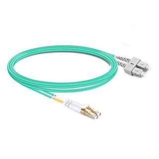 CERTECH LC-SC OM4 Duplex Fibre Patch Lead 0.5m