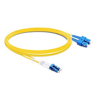 CERTECH LC-SC OS2 Duplex Fibre Patch Lead 3m