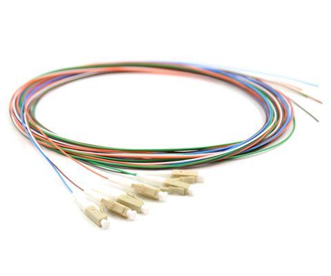 CERTECH Fibre Pigtails, LC OM3, 6 Pack, 2 Metres