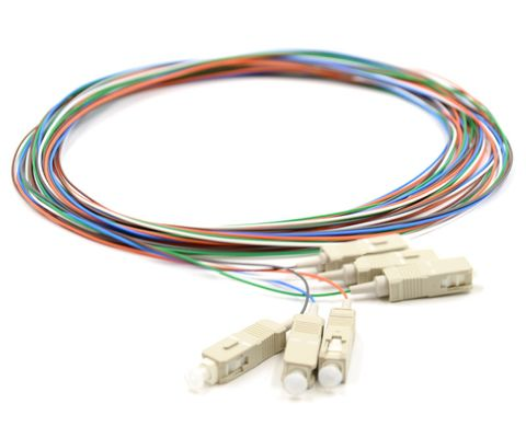 CERTECH Fibre Pigtails, SC OM3, 6 Pack, 2 Metres