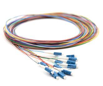 CERTECH Fibre Pigtails, LC OS2, 12 Pack, 2 Metres