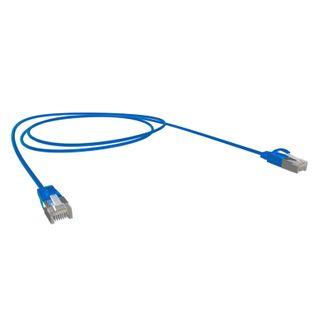 0.5M Cat6A SFTP Super-Thin 10G Patch Lead, Blue LSZH Jacket