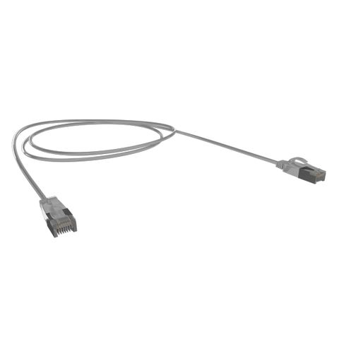 0.25M Cat6A SFTP Super-Thin 10G Patch Lead, Grey LSZH Jacket, 34AWG