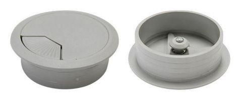 80mm Desk Grommet, Grey