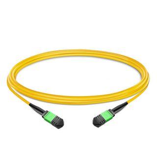 CERTECH 12 Core OS2, Female to Female MPO Cable, 7.5m