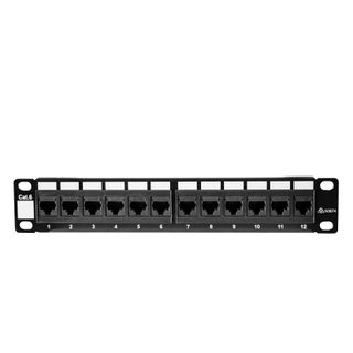 """10"""" 12 Port Cat6 Patch Panel for Mini Cabinets"""