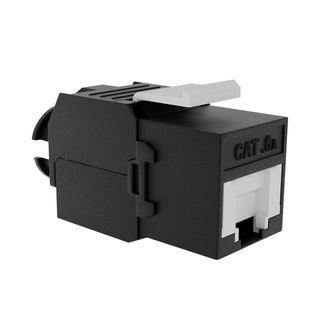 Cat6A UTP RJ45 Slimline Tool-less Keystone Jack, w/ Dust-Prevention Shutter