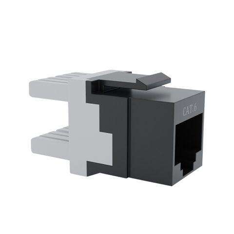 Cat6 UTP RJ45 Keystone Jack. Black, 180 degrees, 10pc Pack