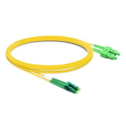 CERTECH LC/APC-SC/APC OS2 Duplex Fibre Patch Lead 0.5m