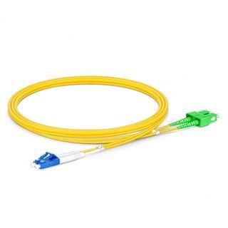 CERTECH LC-SC/APC OS2 Duplex Fibre Patch Lead 0.5m