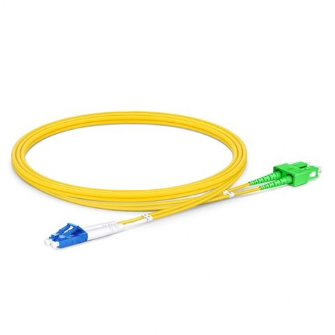 CERTECH LC-SC/APC OS2 Duplex Fibre Patch Lead 1m