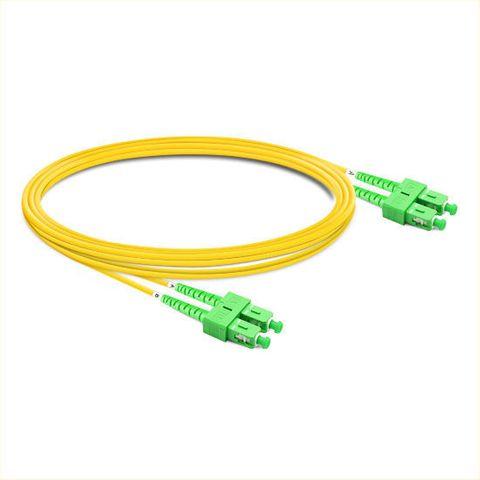 CERTECH SC/APC-SC/APC OS2 Duplex Fibre Patch Lead 0.5m