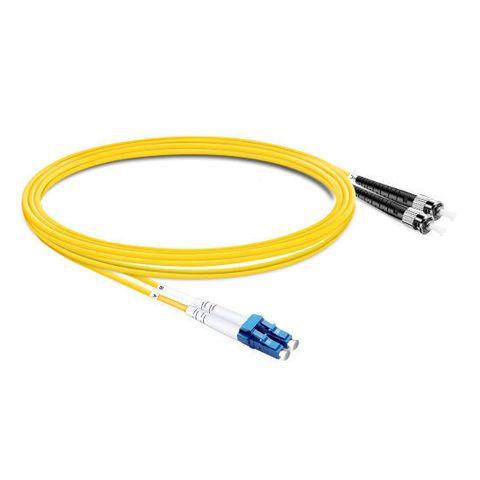 CERTECH LC-ST OS2 Duplex Fibre Patch Lead 0.5m