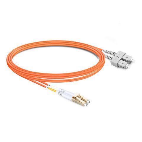 CERTECH LC-SC OM1 Duplex Fibre Patch Lead 0.5m