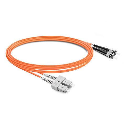 CERTECH SC-ST OM1 Duplex Fibre Patch Lead 0.5m