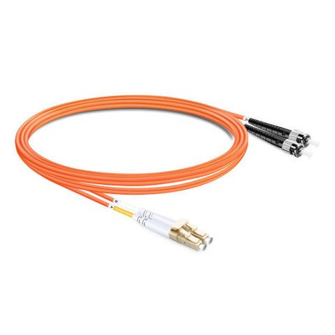 CERTECH LC-ST OM1 Duplex Fibre Patch Lead 2m
