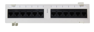 Mini 12 Port Surface Mount Patch Panel, Cat6 Rated