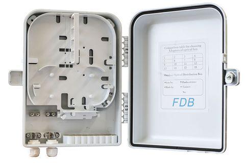 12 Core Fibre Outdoor Wall Enclosure, IP55 Rated