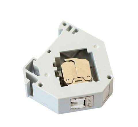 DIN Mount RJ45 Socket, Cat6A STP w/ Dust-Prevention Shutter