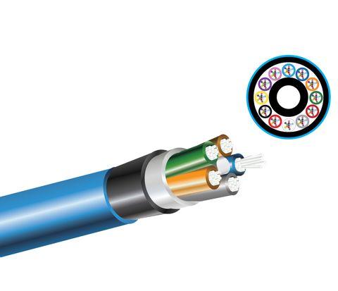 24 Core OM3 L/T Drycore (Underground), Blue Nylon Jacket - Per Metre